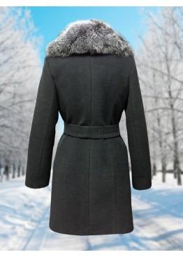 Пальто зимнее Дарси Темно-Серое Snow
