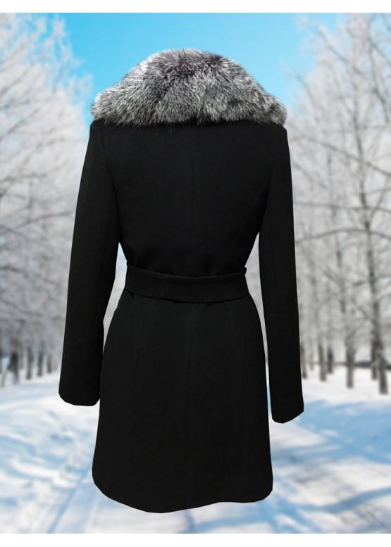Пальто зимнее Дарси Черное Snow
