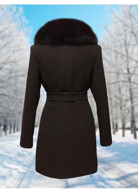 Пальто зимнее Дарси Шоколад
