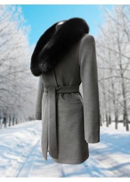 Пальто зимнее Дарси Серое Black