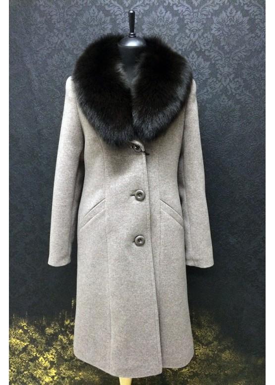 Пальто зимнее Карлин Серое