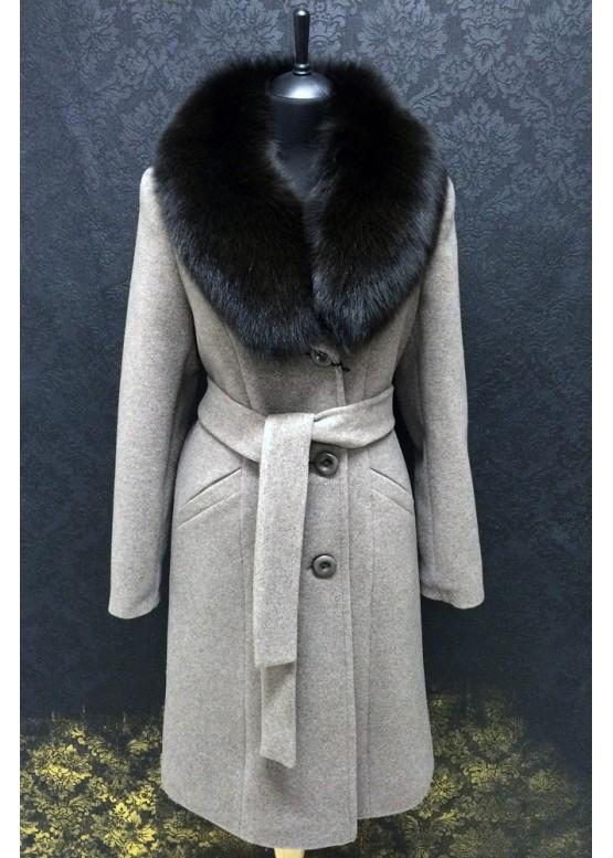 Пальто зимнее Карлин Синее