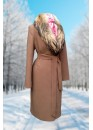 Пальто зимнее Карлин беж Батала