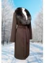 Пальто зимнее Карлин шоколад Батала
