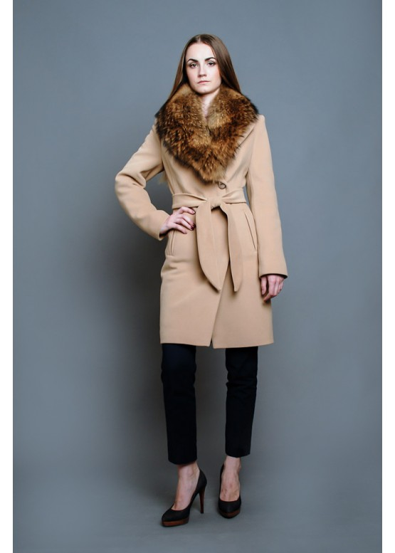 Пальто зимнее Классик Крем