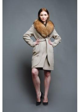 Пальто зимнее Классик Беж Сукно