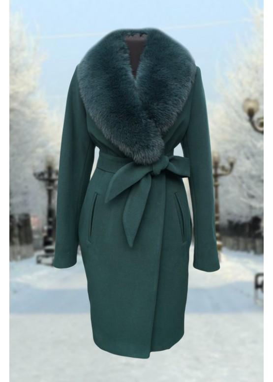 Пальто зимнее Классик Зеленый