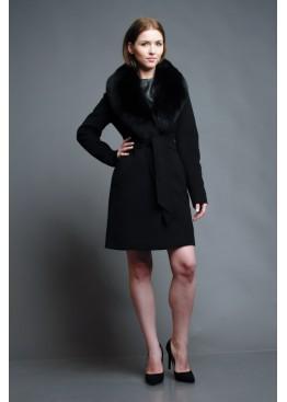 Пальто зимнее Классик Ночь Песец