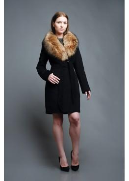Пальто зимнее Классик Ночь Енот