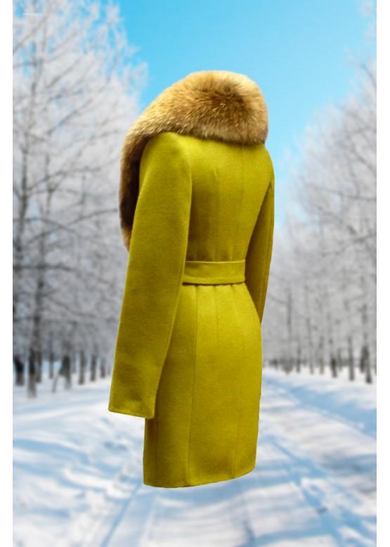 Пальто зимнее Классик Олива