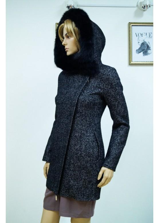 Пальто зимнее Риана Темно-Серое