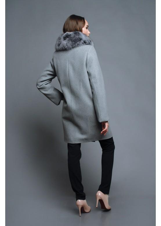 Пальто зимнее Терри Серый