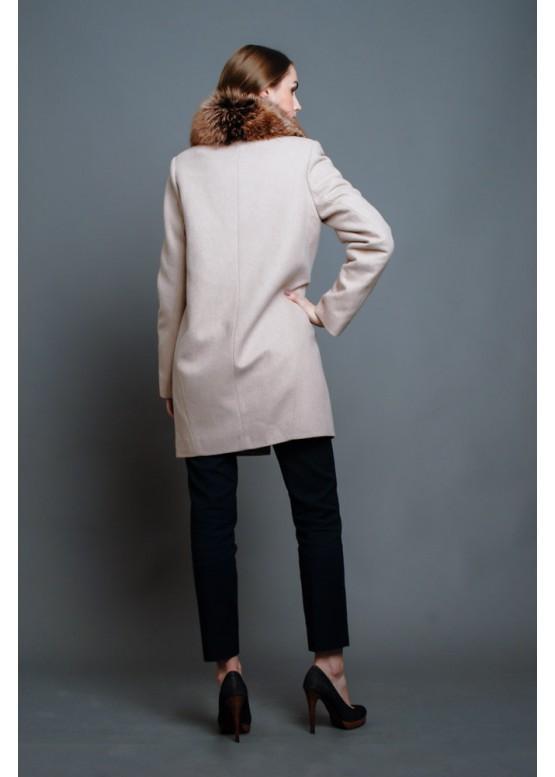 Пальто зимнее Терри Молочный