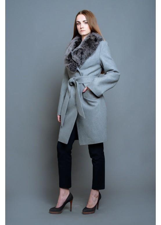 Пальто зимнее Винруж Серое Сукно