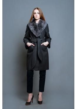 Пальто зимнее Винруж Темно Серое