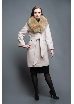 Пальто зимнее Винруж Беж Сукно